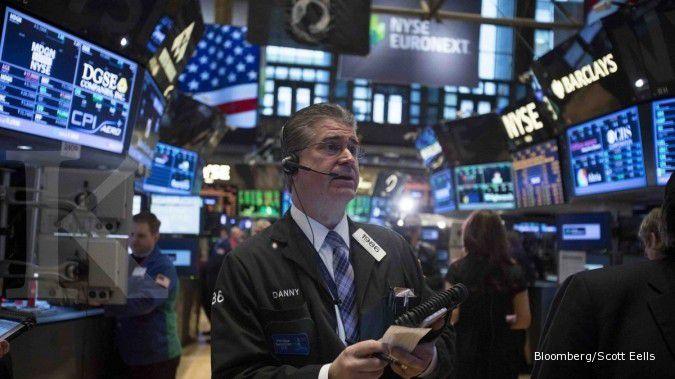 Bursa AS melompat di akhir transaksi