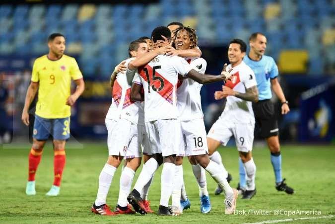 Hasil Copa America 2021 Kolombia vs Peru: La Rojiblanca tekuk Los Cafeteros 1-2