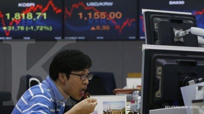 Awal pekan, bursa Asia memberi sinyal merah