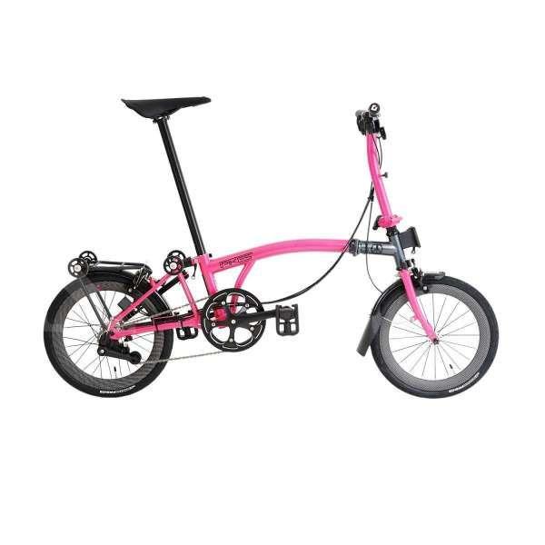 Baru beredar, harga sepeda lipat Element PIkes Gen 2 pink grey edition terjangkau