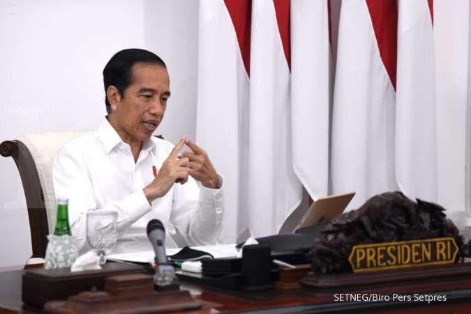 Presiden Joko Widodo memberi pengarahan melalui video conference di Istana Merdeka, Senin (27/7/2020).