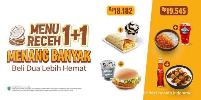 Promo McDonald's 2021, Menu Receh Hanya Rp 18.000-an Saja