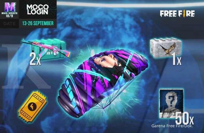 Cara mendapatkan skin parasut Moco Wings Free Fire gratis, cukup login 6 hari!