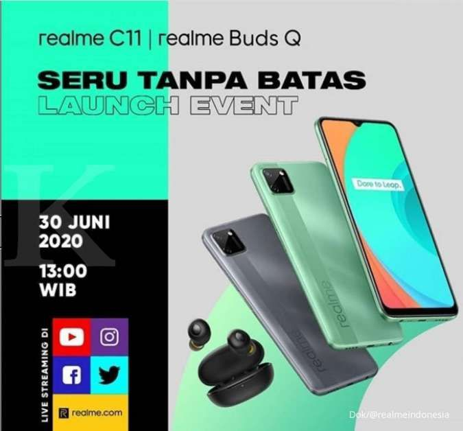 Realme C11 diperkenalkan ke pasar Indonesia dan Malaysia pekan depan