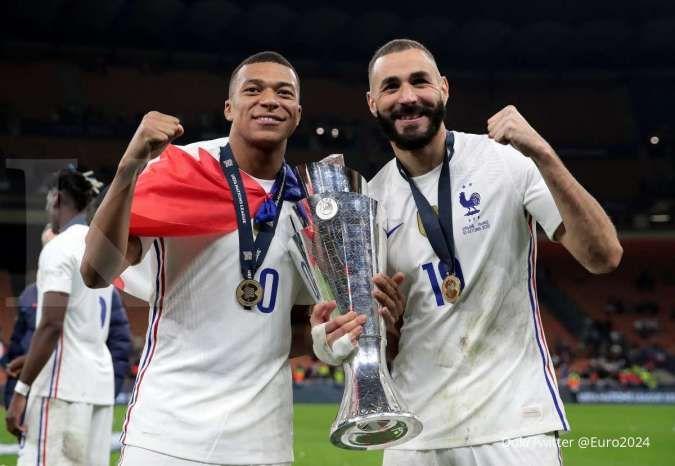 Duet Karim Benzema-Kylian Mbappe moncer di Prancis, kabar baik untuk Real Madrid