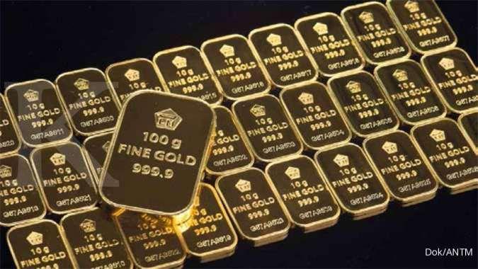 Harga emas Antam naik Rp 12.000 jadi Rp 928.000 per gram pada hari ini, Kamis (14/10)