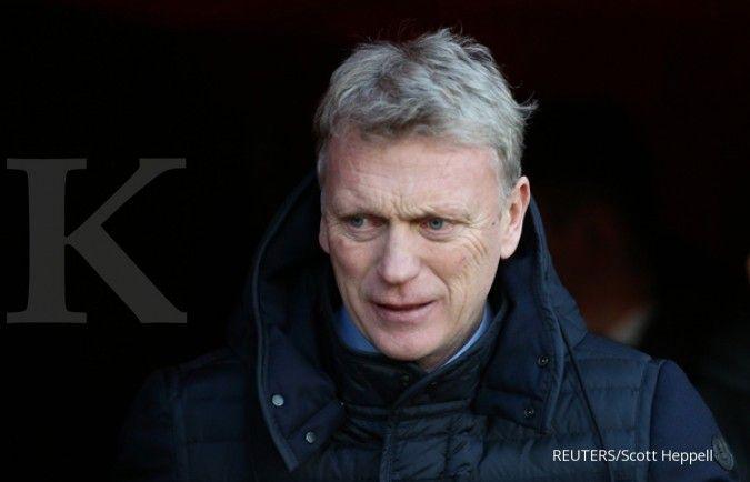 David Moyes jelang laga Man United vs West Ham United di Piala FA.