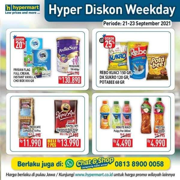 Manfaatkan Katalog Promo Hypermart Hyper Diskon Weekday Periode 21-23 September 2021