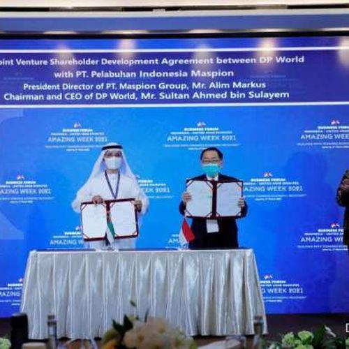 DP World dan CDPQ Tanda Tangani Perjanjian Pelabuhan dan Kawasan Industri Logistik dengan Maspion Group di Indonesia