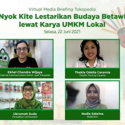 Peringati HUT ke-494 DKI Jakarta, Intip Dua UMKM Lokal Lestarikan Budaya Betawi lewat Tokopedia