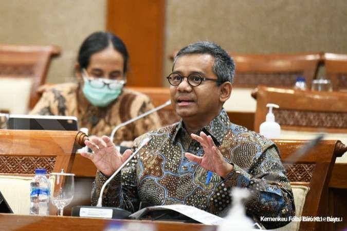 Wakil Menteri Keuangan Suahasil Nazarasaat rapat kerja dengan DPR RI.