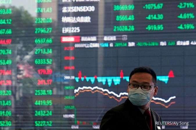 Bursa saham Asia menguat setelah saham raksasa teknologi AS melonjak