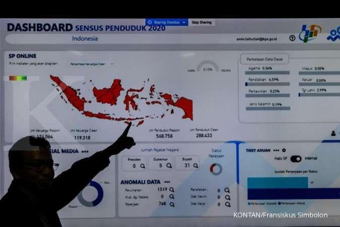 BPS: Sebanyak 41,77 juta penduduk sudah mengisi sensus penduduk online