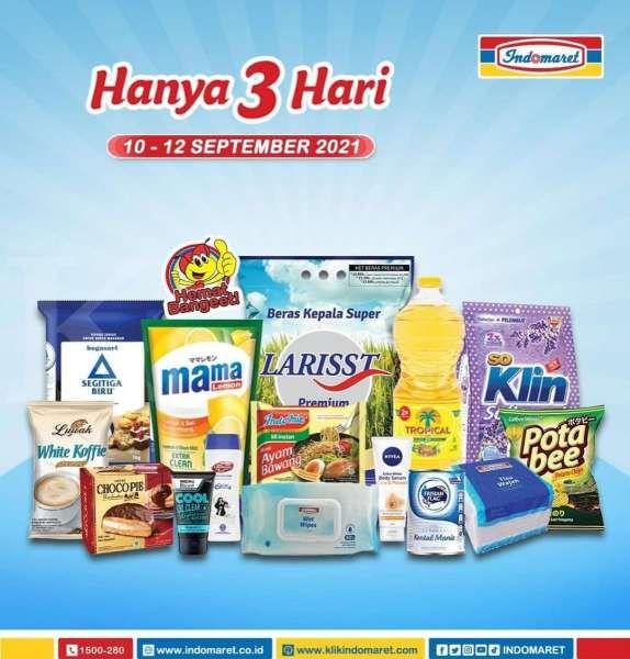 Katalog Promo Indomaret Hanya 3 Hari Periode 10-12 September 2021