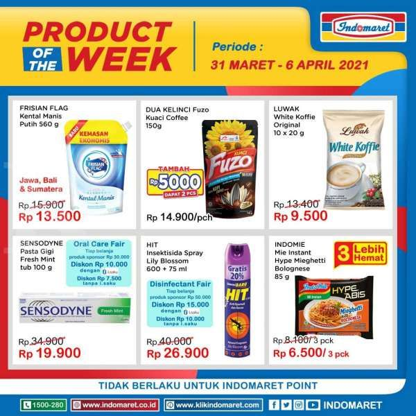 Promo Indomaret Product of The Week 31 Maret - 6 April 2021