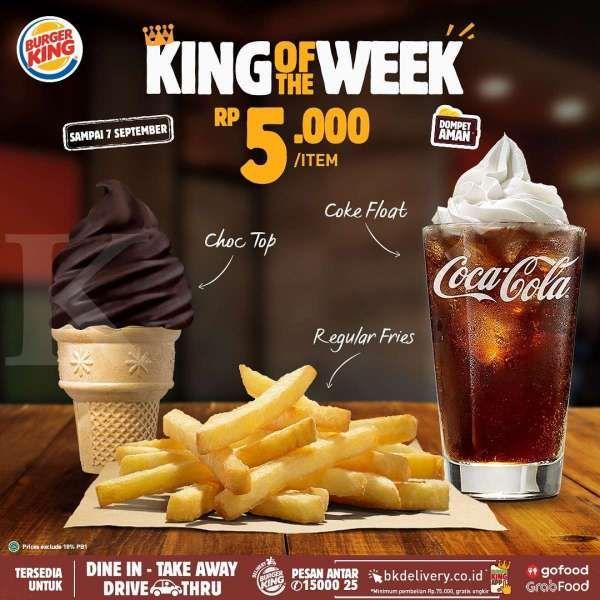 Promo Burger King Periode 1 7 September 2020 Harga Mulai Rp 5 000