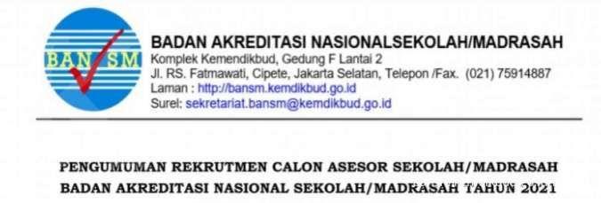 Lowongan kerja calon asesor sekolah Kemendikbud, ada 1.800 posisi tersedia