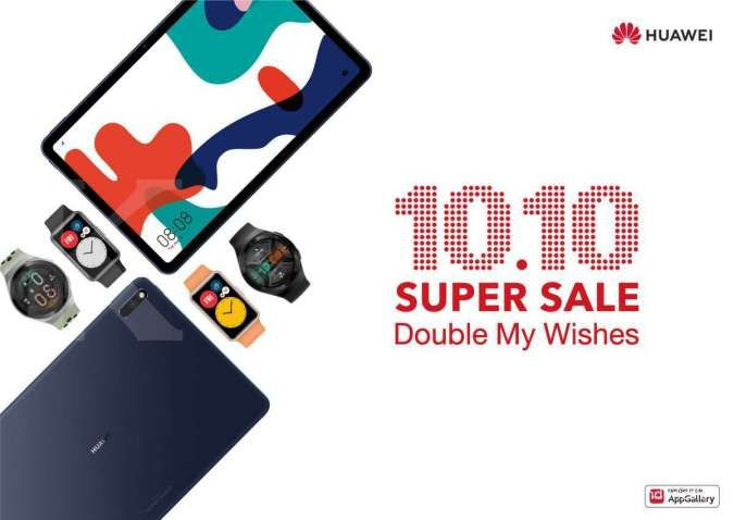Jangan ketinggalan, ini promo Huawei untuk belanja online 10.10