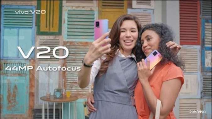 Vivo V20 dilengkapi 44 MP Eye Autofocus membuat hasil rekaman video sangat detail