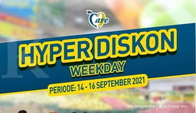 Promo Hypermart 14-16 September 2021, beli banyak lebih hemat di hyper diskon weekday