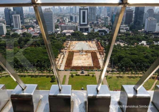 Proyek revitalisasi kawasan Monumen Nasional (Monas) kembali dilanjutkan