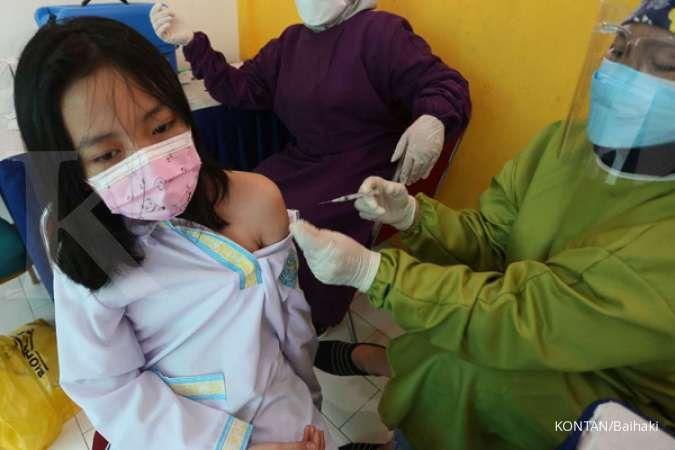 Vaksinasi pada anak usia 12-17 tahun telah mencapai 718.000 orang