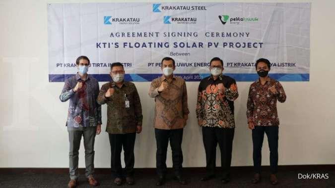 Anak usaha PT Krakatau Steel Tbk (KRAS) yaitu PT Krakatau Tirta Industri (KTI) melakukan penandatanganan kerja sama dengan PT Akuo Energy Indonesiauntuk pengembangan PLTS terapung.