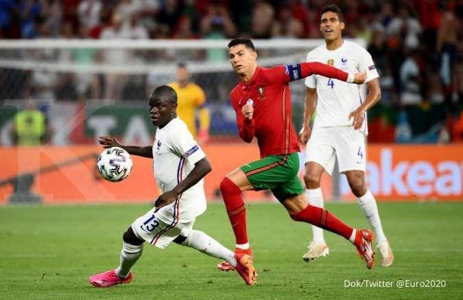 Hasil Euro 2020 antara Portugal vs Prancis di Grup F
