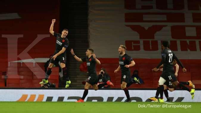 Hasil laga Arsenal vs Slavia Praha di Liga Europa