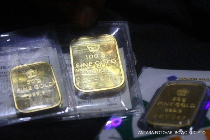 Harga emas Antam menurun, jika beli setahun lalu untung Anda sekecil ini