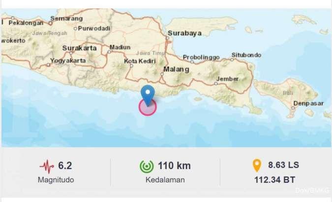 Gempa 6 2 Magnitudo Mengguncang Blitar Bmkg Ingatkan Potensi Gempa Susulan