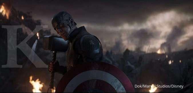 Chris Evans sebagai Captain America dalam film Avengers: Endgame produksi Marvel Studios.