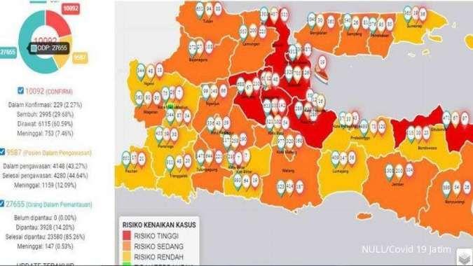 Jawa Timur Lampaui Jakarta Jadi Provinsi Kasus Corona Terbanyak Di Indonesia