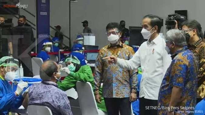Tinjau vaksinasi di Yogyakarta, Jokowi berharap pariwisata segera pulih