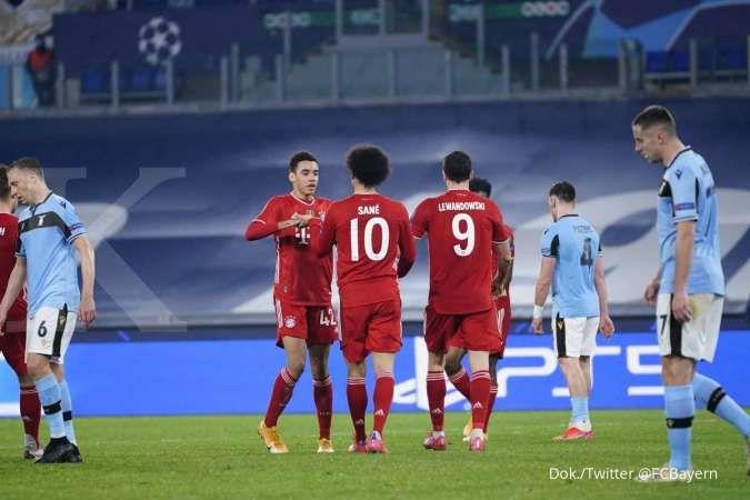 Lazio vs Bayern Munchen di Liga Champions: The Bavarian tumbangkan Si Elang 1-4