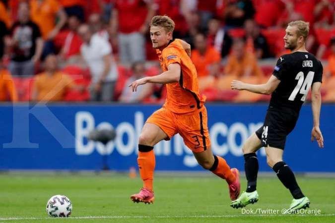 Hasil laga Belanda vs Austria di Grup C Euro 2020