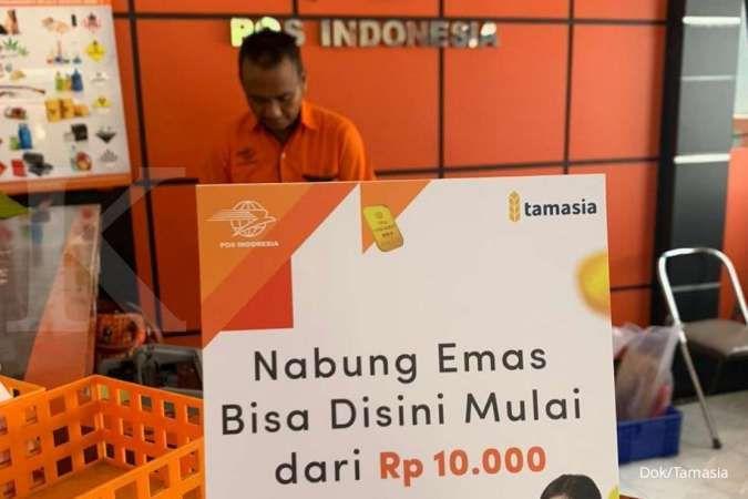 Tamasia gandeng Pos Indonesia permudah menabung emas mulai dari Rp 10.000