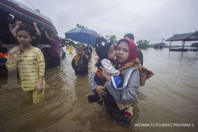Sebanyak 21.990 jiwa terdampak banjir di Kalimantan Selatan