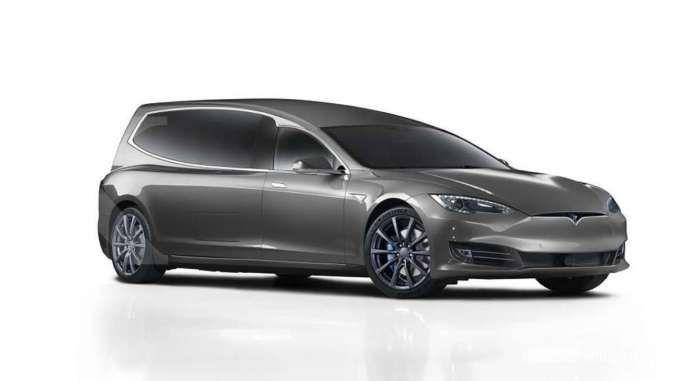 Perusahaan Asal Inggris Sulap Tesla Model S Jadi Mobil Jenazah Begini Penjelasannya