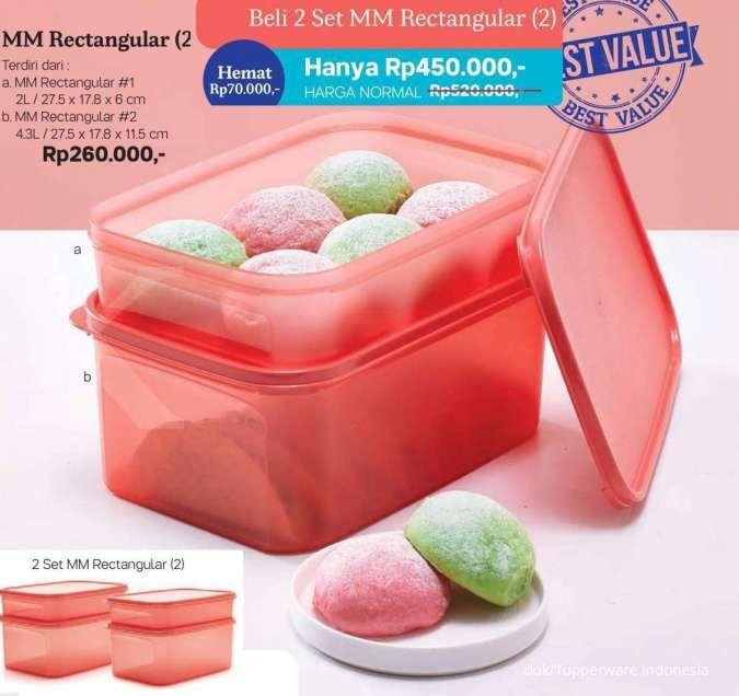 Brosur promo Tupperware Februari, harga murah produk penyimpan makanan ringan