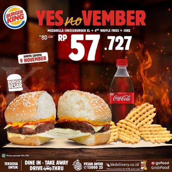 Promo Burger King 1-9 November 2020