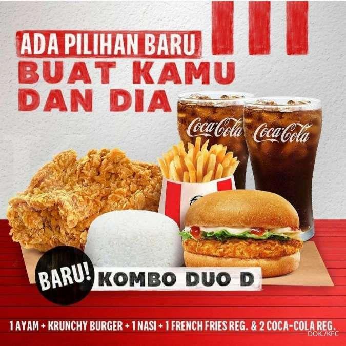 Promo KFC Kombo Duo, Ada Menu Terbaru Kombo Duo Paket D Rp 50.000