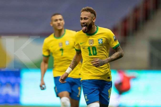 Copa America 2021 antara Brasil vs Peru di Grup A