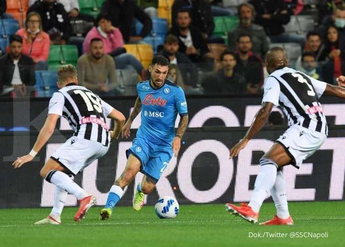 Hasil Liga Italia Serie A antara Udinese vs Napoli