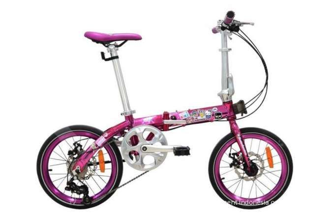 Ini harga sepeda lipat Foldx X2 Sanrio Edition yang tampil super imut dan feminin
