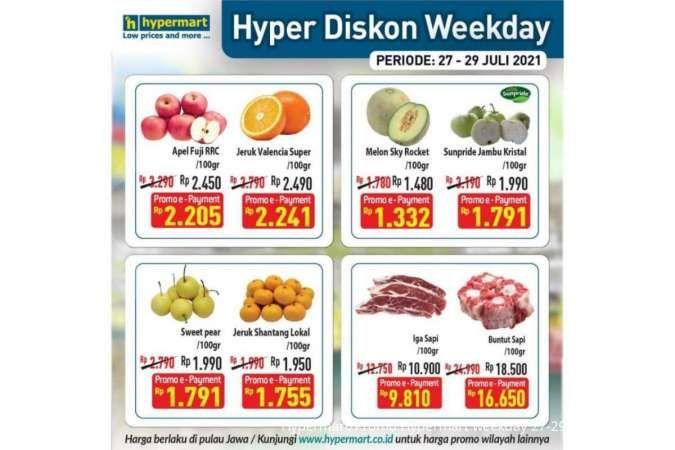 Promo Hypermart weekday 27-29 Juli 2021, program Hyper Diskon terbaru!