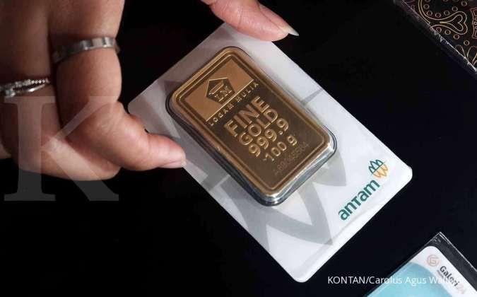 Pada momen Lebaran tahun ini penjualan emas Antam relatif stagnan