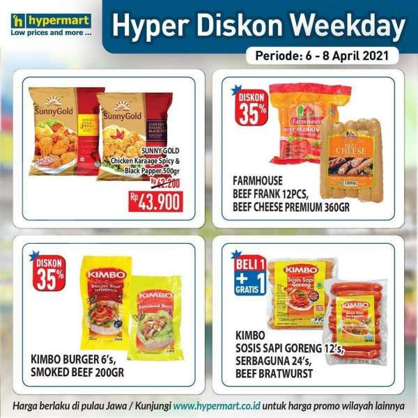 Promo Hypermart weekday 8 April 2021, masih ada program Hyper Diskon!