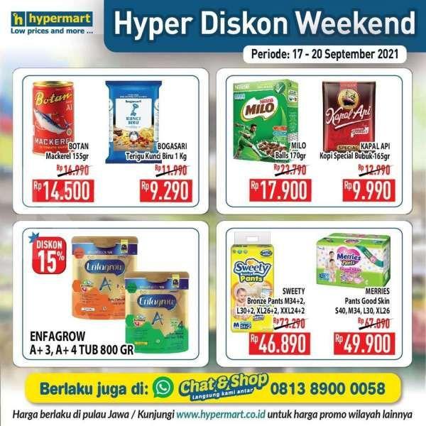 Katalog Promo Hypermart Hyper Diskon Weekend Periode 17-20 September 2021