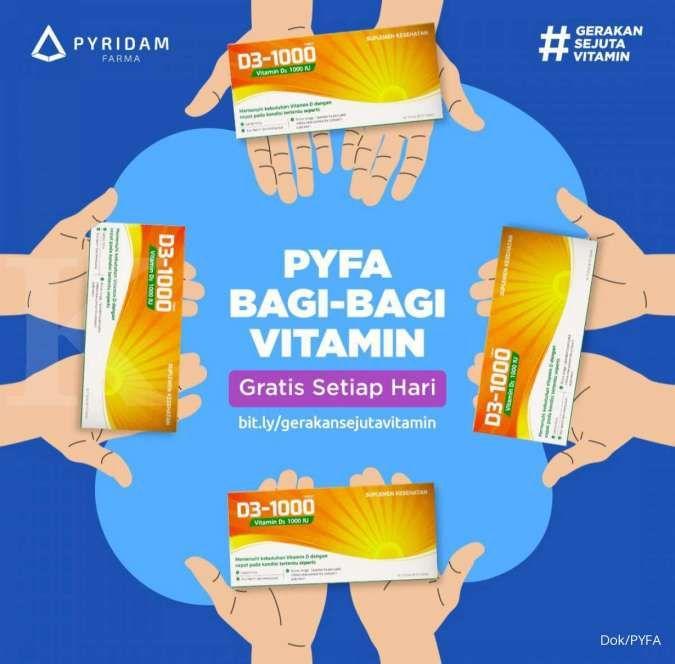 Pyridam Farma (PYFA) bagikan 1 juta vitamin gratis
